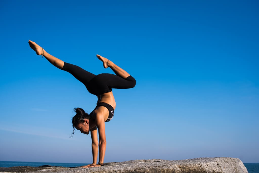 yoga inversion pose