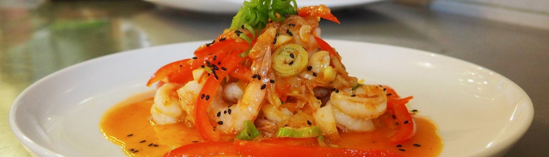 delicious food at beachfront restaurant