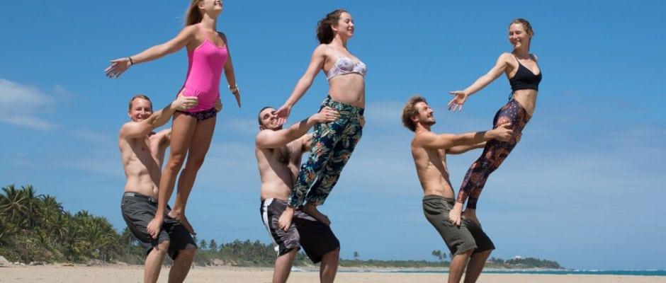 acro yoga beach cabarete