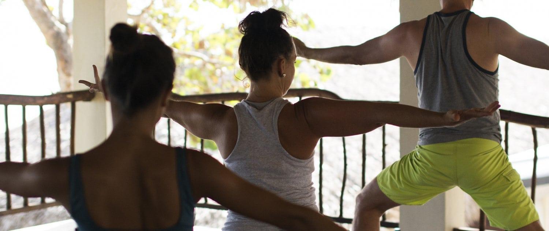 warrier pose yoga loft cabarete