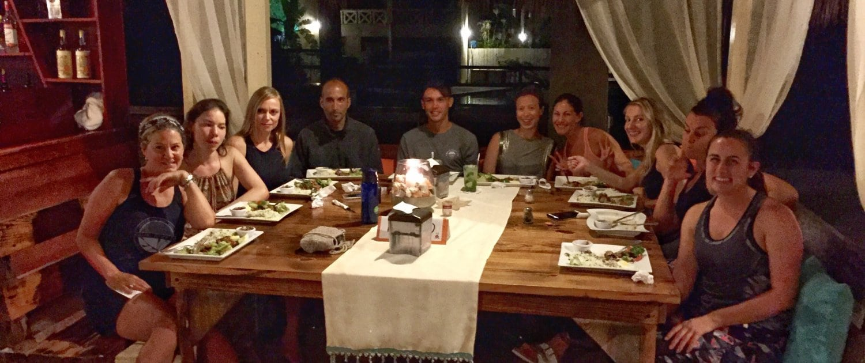 yoga loft cabarete organic dinner