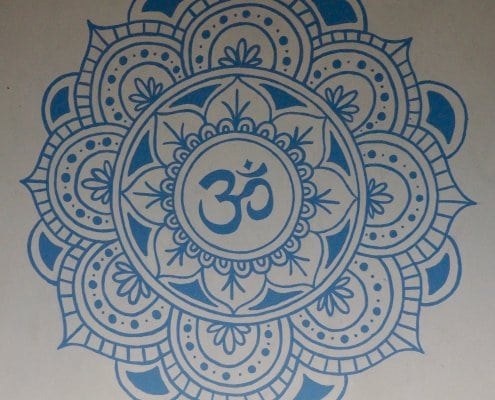 mandala in the yoga loft
