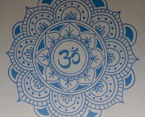 mandala in the yoga loft