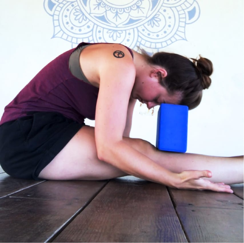 teaching yoga - caribbean yoga - it's okay to use props and blocks