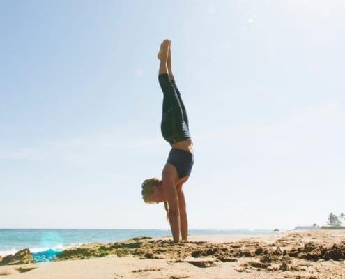 handstand - yoga loft - cabarete