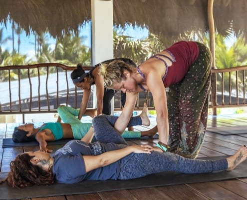 yoga hands-on adjustments - assists - the yoga loft cabarete