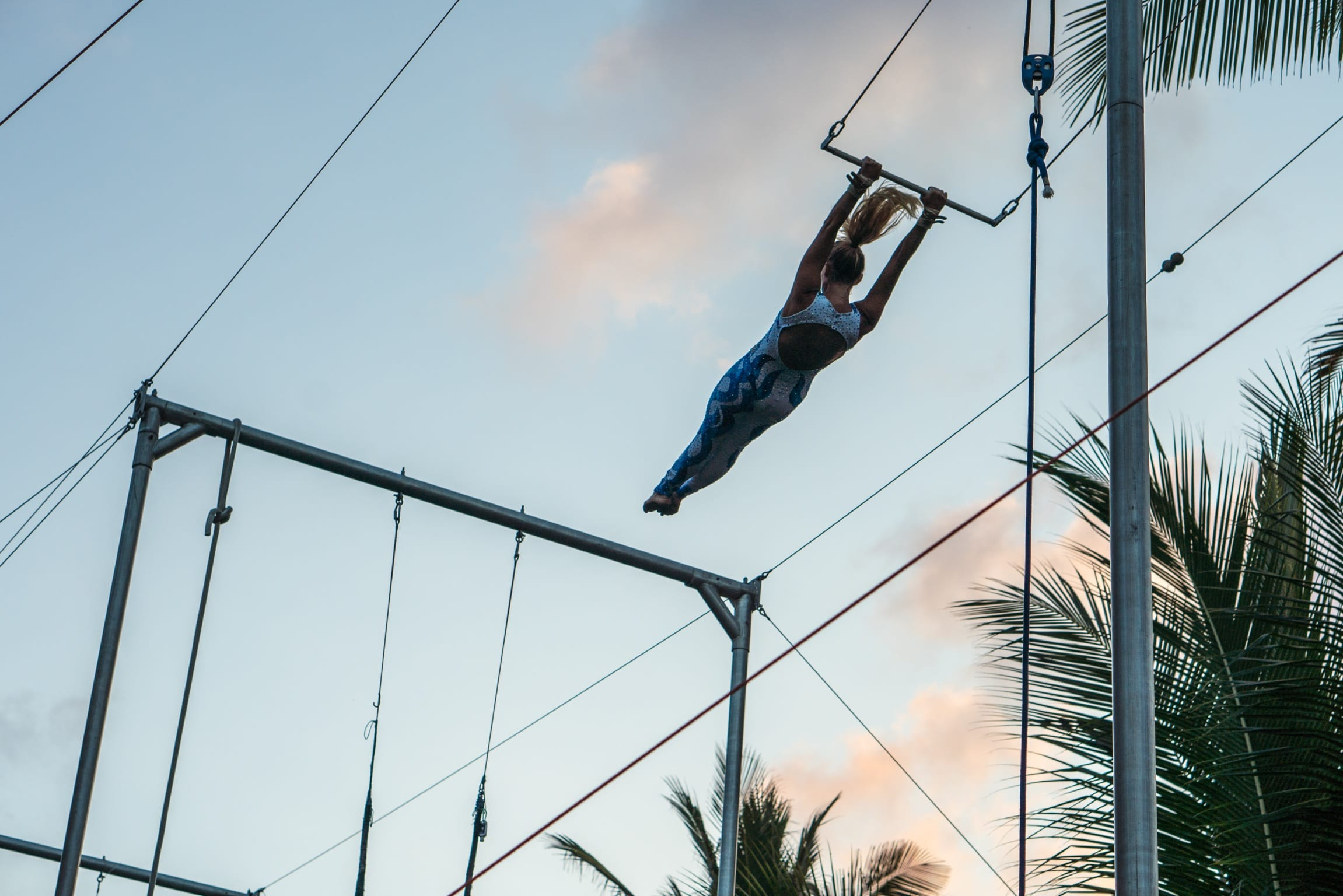 flying trapeze - yoga and circus retreat
