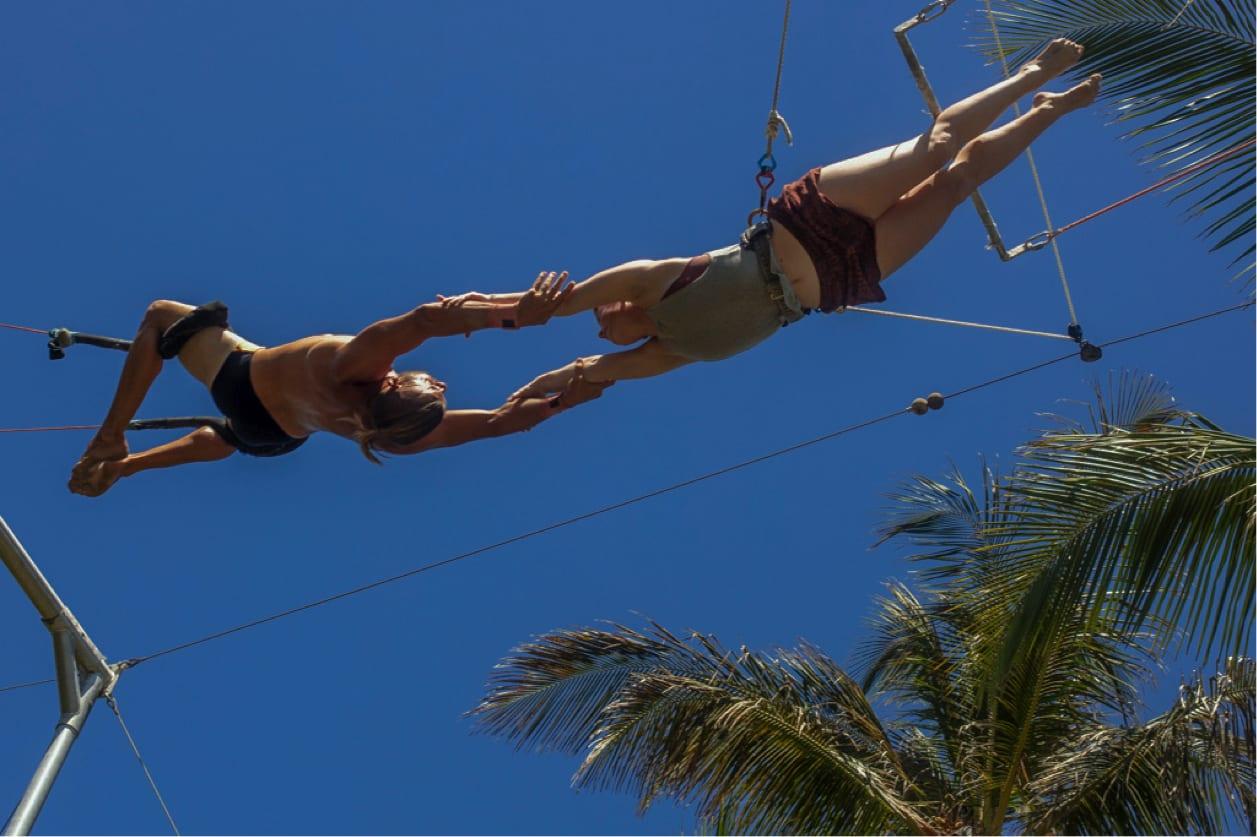 flying trapeze - yoga loft cabarete - extreme circus