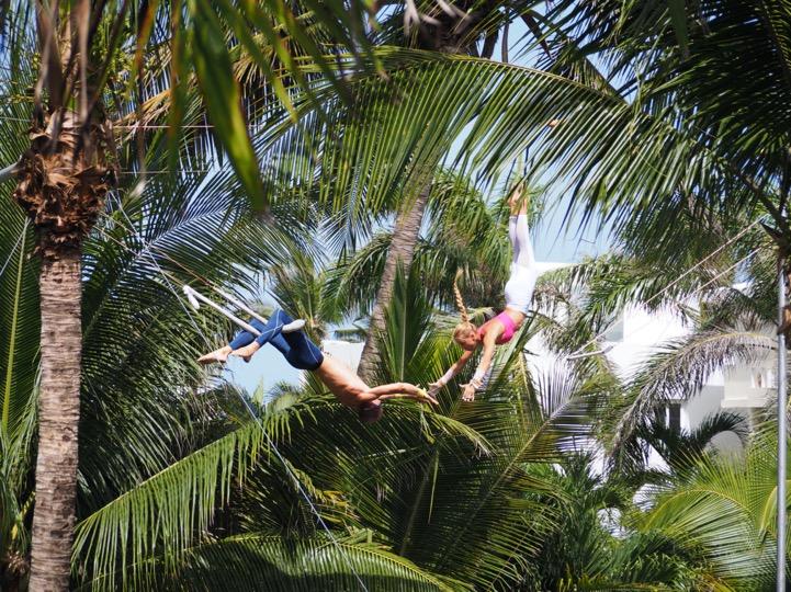 flying trapeze extreme cabarete the yoga loft